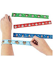 12 Christmas Character Slap Bracelets #4/5033