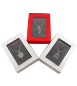 One Crystal Christmas Cheer Necklace and Gift Box #X-CHEER-ASST