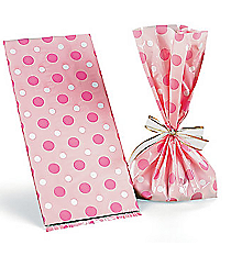 12 Pink Baby Girl Treat Bags #42/1164