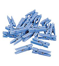 48 Pastel Blue Mini Clothespins #42/1246