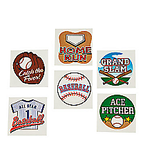 72 Temporary Baseball Tattoos #42/2170