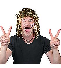 1 Gold Pom-Pom Tinsel Wig #42/2206