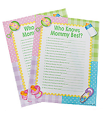 "24 ""Who Knows Mommy Best"" Baby Shower Game #42/2911"