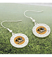 Crystal Accented University of Missouri Earrings #42613-MISSOURI