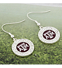 Crystal Accented Texas A&M University Earrings #42613-TEXASAM