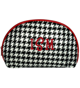 Houndstooth 3-Piece Nesting Cosmetic Set #HE232/HB232-RED