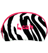 Zebra 3-Piece Nesting Cosmetic Set With Hot Pink Trim #ZEB232-H/PINK