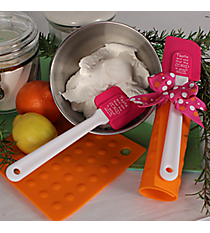 Pink, Orange & White Psalm 34:8 Kitchen Tool Gift Set #43351