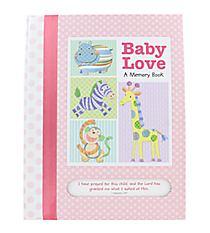 Pink Baby Love Memory Book with Scripture #43535