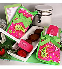 Pink & Green Floral Paisley Psalm 34:8 Pot Holder Gift Set #43726