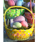 Yellow Spring Fling Wicker Basket #9713231