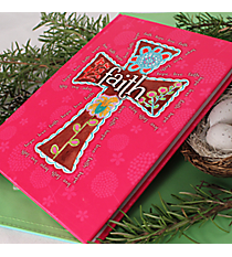 "Pink ""Faith"" Cross Hardcover Journal #44167"
