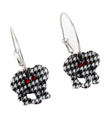 "2"" Houndstooth Elephant Hoop Earrings #QE1216-HT"