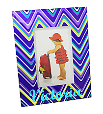 "Purple Chevron 4"" x 6"" Glass Photo Frame #46193"