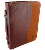 Faux Leather Cross Bible Cover #BBL417