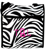 Zebra Shopper Tote with Black Trim #PH3013-163