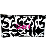 "Damask 10"" Pouch with Black Trim #909-501-B"