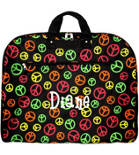 Multi-Colored Peace Signs on Black Garment Bag #GM40-608