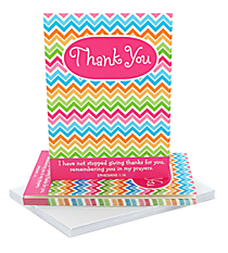 Multi-Color Chevron Ephesians 1:16 Thank You Notecards #47267