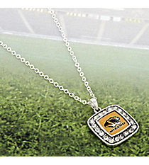 "18"" Crystal Accented University of Missouri Square Pendant Necklace #47275-MISSOURI"