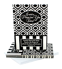 "Black & White Moroccan Ephesians 1:18 ""Prayer for You"" Notecards #47335"