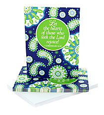"Blue & Green Paisley ""Seek the Lord"" Notecards #47816"