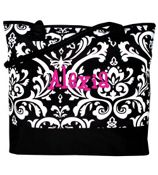 Damask Medium Cooler Tote #DMSK278S-BLACK