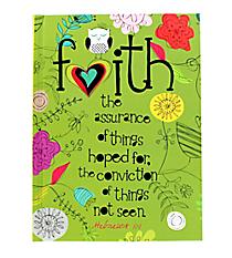 """Hebrews 11:1 """"Faith"""" Hardcover Journal #47922"""