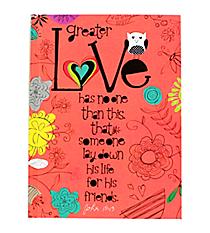 """John 15:13 """"Love"""" Hardcover Journal #47946"""