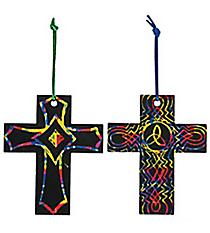 24 Magic Color Scratch Cross Ornaments #48/3538