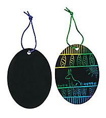 24 Magic Color Scratch Egg Ornaments #48/3541