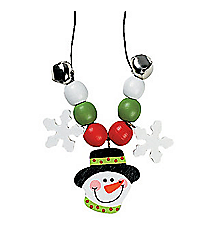 12 Beaded Snowman Necklace Craft Kits #48/5485