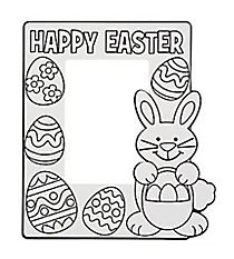 12 Color Your Own Easter Picture Frames #48/8602