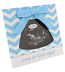 Blue Love at First Sight Baby Sonogram Frame #48028