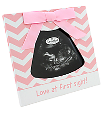 Pink Love at First Sight Baby Sonogram Frame #48042
