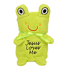 Frog Baby Blankie With Jesus Loves Me #48097