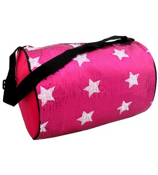 Fuchsia Sequined Star Duffle Bag #CBG28286-FU