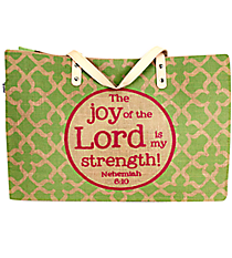 """Joy of the Lord"" Jute Tote #48134"