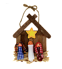One Dozen Wooden Nativity Ornament Craft Kits #48/1720