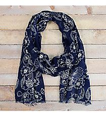 Navy Floral Spring Scarf #48402
