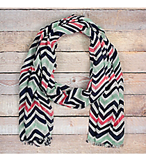 Multi-Color Chevron Spring Scarf #48404
