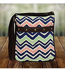 Multi-Color Chevron Glastonbury X-Body Bag #48675