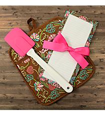 Chocolate Floral Pot Holder Gift Set #48714