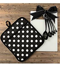 Black and White Dots Kitchen Essentials #48837