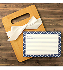 Navy Moroccan Cutting Board Gift Set #48905