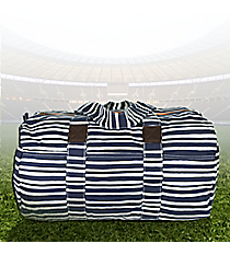 "19"" Navy Stripe Always Ready Duffle Bag #48951"