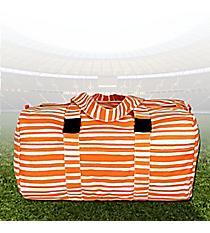 "19"" Tangerine Stripe Always Ready Duffle Bag #48953"