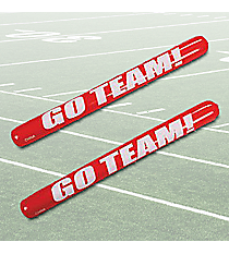 "12 Red Inflatable ""Go Team!"" Noisemaker Sticks #49/312"