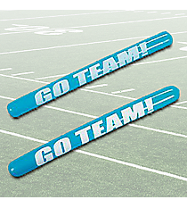 "12 Blue Inflatable ""Go Team!"" Noisemaker Sticks #49/313"