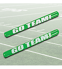 "12 Green Inflatable ""Go Team!"" Noisemaker Sticks #49/314"
